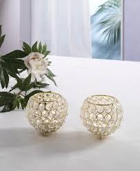 Kristall Kerzenständer Marie 2er Set Kugel 10 Cm In Gold Teelichthalter Kerzenhalter Tafel Hochzeit Feier Teelichthalter Kerzenleuchter Tischdeko