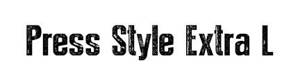 Press Style Extra L Font Free Fonts Download