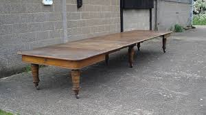 huge antique victorian dining table 18ft x 5ft victorian ash extending dining table to seat