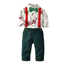 Toddler Boy Pants Size Chart Amazon Com Shusuen Baby Boys Clothes Sets Bow Tie Shirts