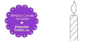 Printable Birthday Candle Shape Template Printable Treatscom