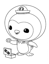 Small Picture Peso Penguin Opening his Medical Kit in The Octonauts Coloring