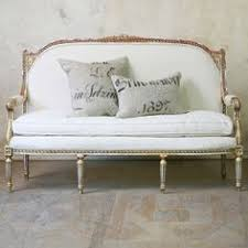 for the hall Eloquence One of a Kind Vintage Settee Cane Weathered