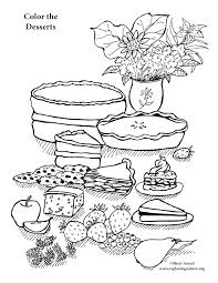 Small Picture Dessert Coloring Page