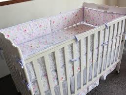 birds flowers cartoon crib baby bedding set 100 cotton print 4 items cot quilt bed