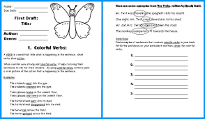 erfly book report project first draft writing worksheets