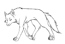 Wolf Lineart By Tcs1992 Jpg 2224