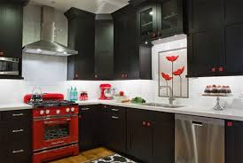 Red And Black Kitchen Designs Color Scheme Idea 20 Red Black And