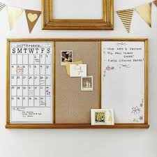 Gold Framed Triple Study Wall Board