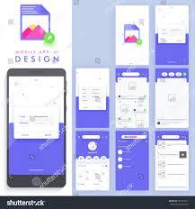 Material Design Stock Images Material Design Ui Ux Gui Template Stock Vector Royalty