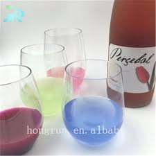 special plastic stemless wine glasses bulk disposable in ste
