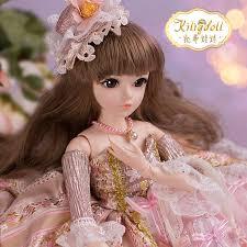 doris katie doll sd bjd doll barbie doll set gift box bride wedding princess doll 60 cm change makeup