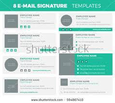 Set 8 Flat Modern Email Signature Stock Vector 594867410 - Shutterstock