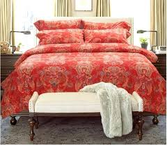 asda red brushed cotton sheet luxury vintage fl bedding set sheets king queen size quilt duvet