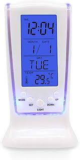 Dikley LED Digital Alarm Clock with Blue Backlight ... - Amazon.com