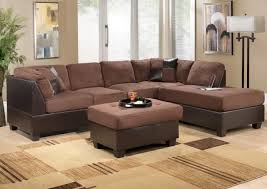 brown sofa blue rug