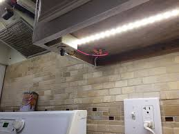 simple kitchen lighting design with high power flexible led light strip faux brick wall kitchen