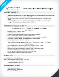 Resumes For Security Officers Officer Resume Sample Guard Download