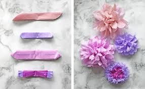 tissue paper flower variations
