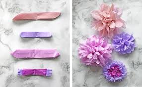 tissue paper flower variations