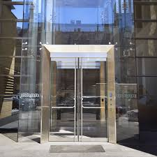 glass vestibule with framed structural portal wistar