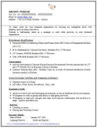 Cv For Company Mba Fresher Resume Sample Fresh Graduate Brilliant