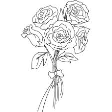 the bunch of roses coloring pages