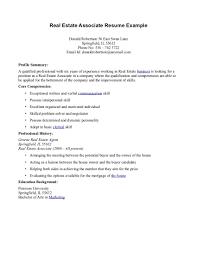 cover letter for real estate job real estate resume real estate resume  example 1 real estate