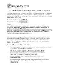 Eng106 Cause Effect Peer Review Worksheet Eng 106 Gcu