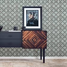 Historische Tapete Bambusgitter Klassische Grafische Vlies Tapete Wohnakzent Für Esszimmer