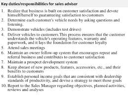 Main Responsibilities Of A Sales Assistant Under Fontanacountryinn Com