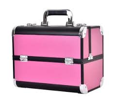 large aluminum beauty case with plastic trays inside abs anodize material aluminum makeup box
