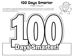 100th Day Of School Crown Link Super Teacher Worksheets G ...
