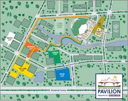 Cynthia Woods Pavilion Seating Chart Pavilion Public Parking And Pathways Map Pavilion Green