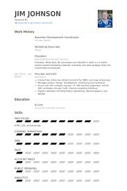 Business Development Coordinator Resume Samples VisualCV Resume Unique Resume Pandora