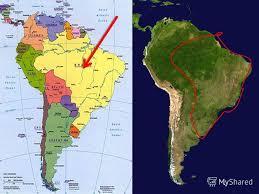 Презентация на тему Бразилия одна из самых красивых стран  5 Бразилия протянулась с севера на юг 4320 км с востока на запад 4328 км Граничит со всеми государствами Южной Америки кроме Чили и Эквадора с