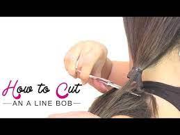 how to cut an a line bob you
