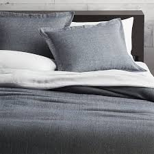 weekendr blue chambray full queen duvet cover