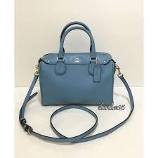 Coach Mini Bennett Satchel Medium Shoulder Bag Crossbody Leather Bluejay  Blue  Coach  Satchel Coach