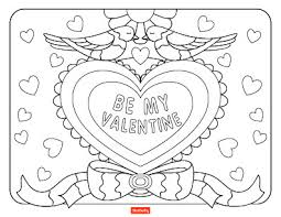 valentines day coloring pages.  Coloring Be My Valentine In Valentines Day Coloring Pages