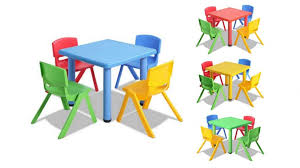 keezi 5 piece kids table chair set