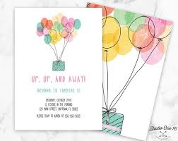 Balloon Birthday Invitations Balloon Birthday Invitation Balloon Invitation Balloon Party Etsy