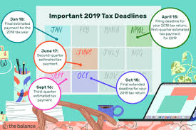 fiscal year 2019 dates federal income tax deadlines in 2019