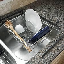 Kitchen Sink Drain Rack Expandable In Sink Dish Rack Dish Racks Pinterest Dark