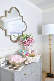 baby girl nursery with gold accents and striped ceiling honey we re home