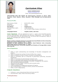 Cv Job Application Example Curriculum Vitae Sample Resume Cover