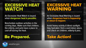 An Excessive Heat Watch has been issued ...