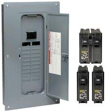 electrical circuit breakers fuse boxes homeline 100 amp 20 space 40 circuit indoor main neutral breaker load center