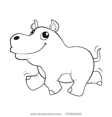 Baby Hippo Coloring Pages Hippopotamus Coloring Pages Color Pages