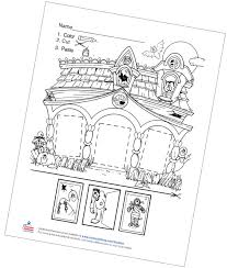 You can find so many unique, cute and complicated pictures for children of all ages as well as many g. Haunted House Color Cut And Paste Free Printable Carson Dellosa